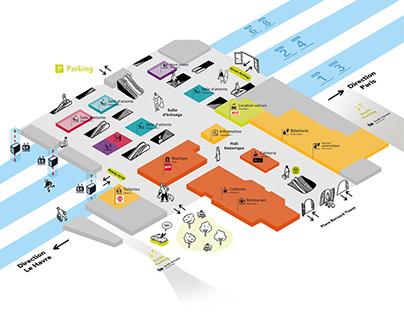 navigation plan / Gare de Rouen SNCF