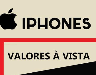 Tabela de preços - Iphones V&V Importados e Nacionais