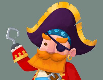 Captain Gingerbeard - Pirate Painting