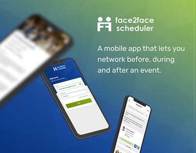 UI/UX Design for event networking mobile app