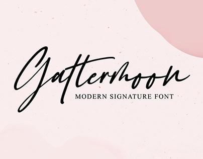 gattermoon | Signature Font