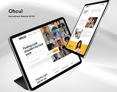 Ohcul - Job Finder Website UI/UX