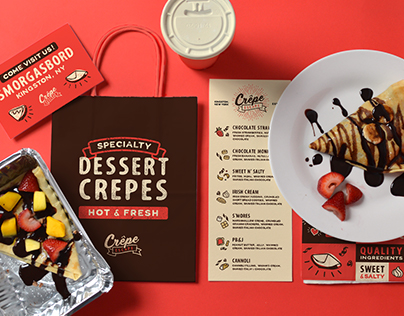 Crêpe Escape Branding