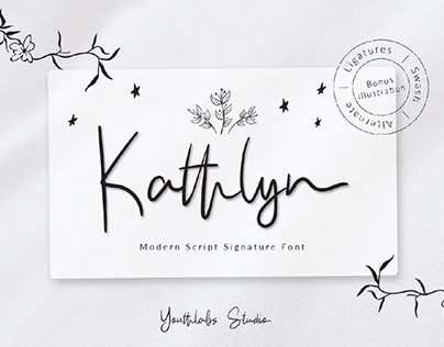 FREE | Kathlyn Modern Signature Font