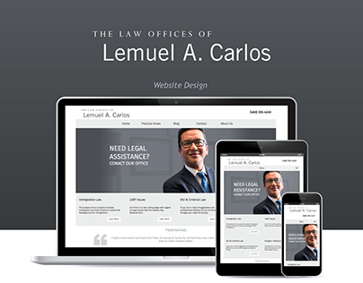 The Law Office of Lemuel Carlos | Responsive Website