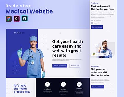 ByDoctor - Healthcare Website Homepage