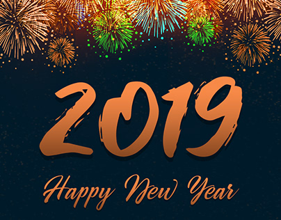 Wishing Happy New Year 2019