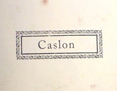 Caslon Type Specimen Book
