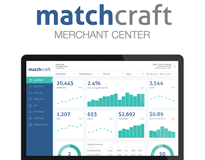 UX/UI design for Matchcraft Merchant Center