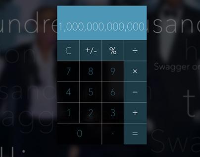 100 Days UI Challenge - Day 4: Calculator