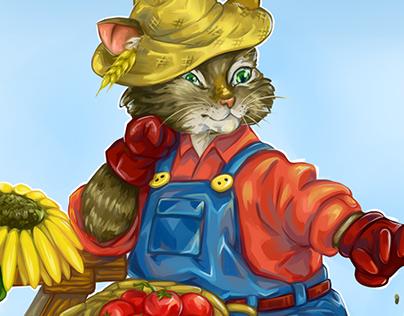 Кот фермер