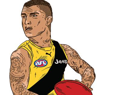 Player Illustrations for Richmond Football Club (AFL)