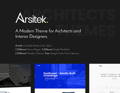 Arsitek | Theme for Architects and Interior Design