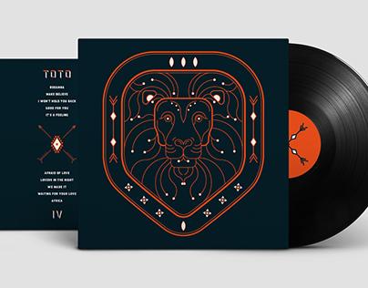 """Vinyl Cover re-design of the TOTO album """"IV"""""""