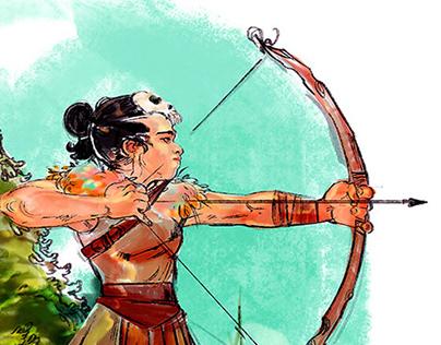 Amazonian, Archer Woman