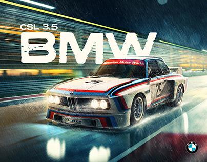 BMW CSL 3.5 x NASCAR