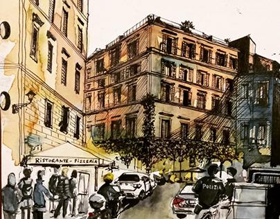 Urban Sketching - Interior Sketching