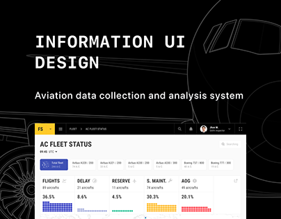 Information UI design for aviation data analysis system