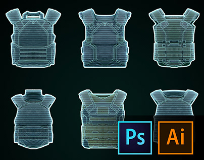 Game icons UI. Shooter game