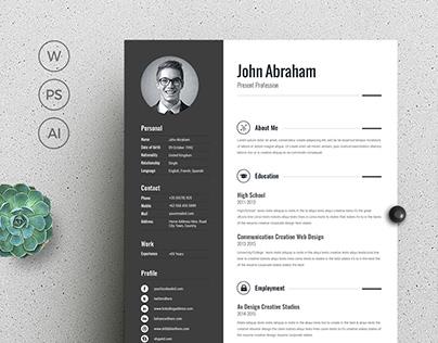 Word Resume/CV Free Download