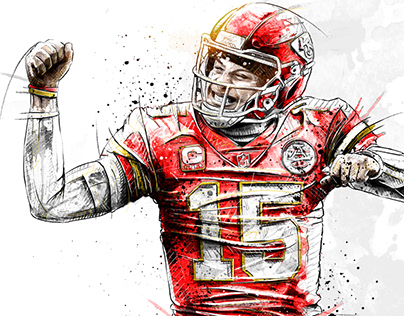 Football Illustrations for Bleacher Report