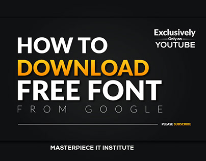 How to download free font from google ?