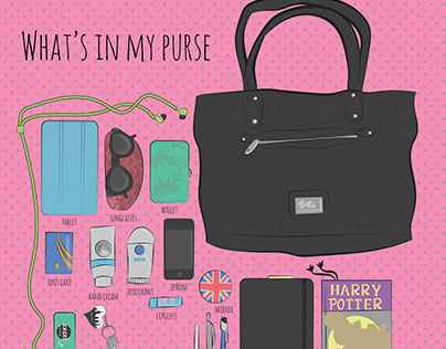 What's in my purse infographic