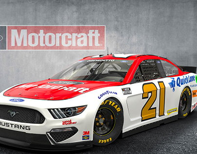 NASCAR Ford Mustang Cup Car Test Renders