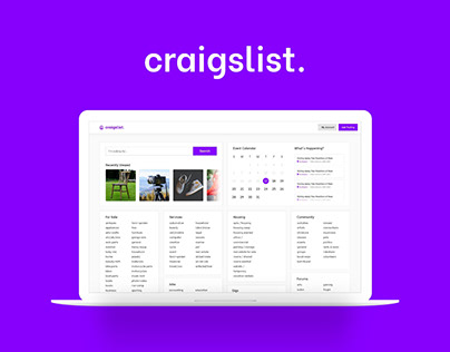 UX Research Craigslist Redesign