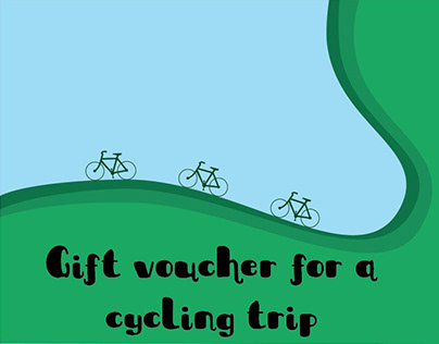 Gift voucher for a cycling trip