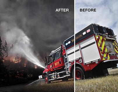 Photoshopped Spread for Trucks Brochure