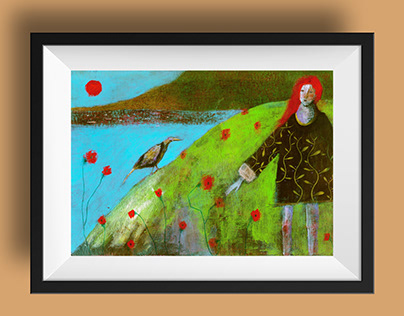 Red poppies - Original and Prints for sale