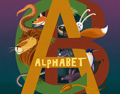 The alphabet with animals. Part 2.