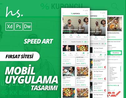 Fırsat Sitesi Mobil Uygulama Tasarımı - Speed Art ( XD