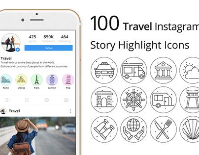 Travel Instagram Story Highlight Icons