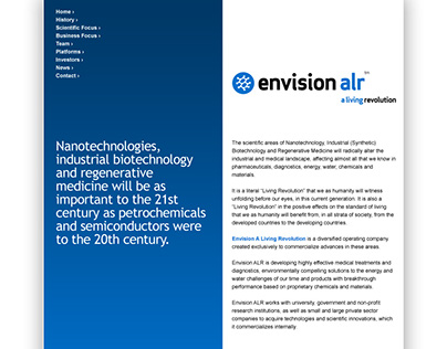 EnvisionALR - Website