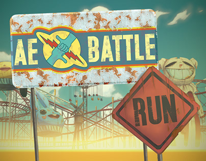 """Ae battle. Run"" intro for motion designer contest."