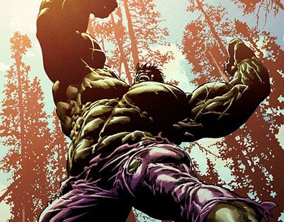 Hulk breaks the wolverine - Color sample.