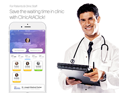 ClinicAtAClick User Interface Design