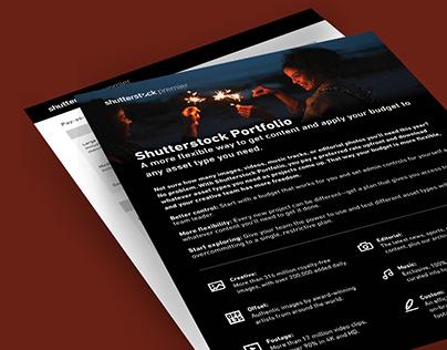 Shutterstock Portfolio One Sheet