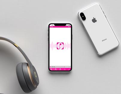 Pitch Music Streaming App Logo Design