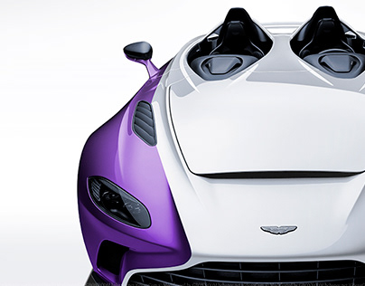 2020 Aston Martin V12 Speedster White & Purple