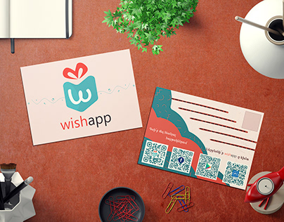 """Wishapp"" postcard"