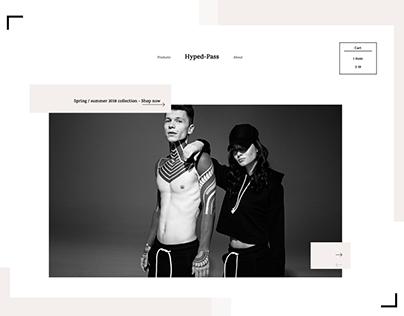 Hyped-Pass Streetwear E-commerce Website