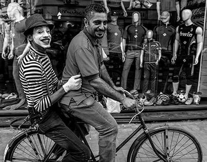 STREET MIME OF CAIRO... BLACK&WHITE PHOTOS...