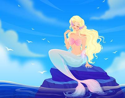 Mermaid Ocean Background