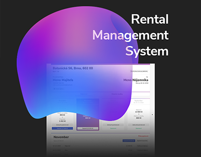 UX and UI of Rental Management System