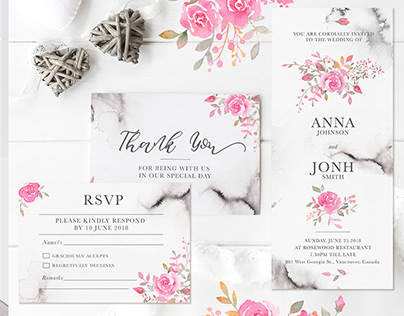 Wedding Romance: Invitation Suite