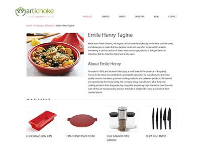 Artichoke ecommerce website design