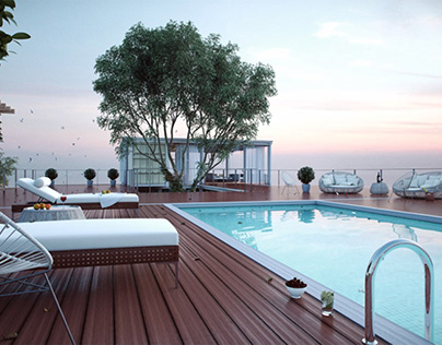 luxory pool area